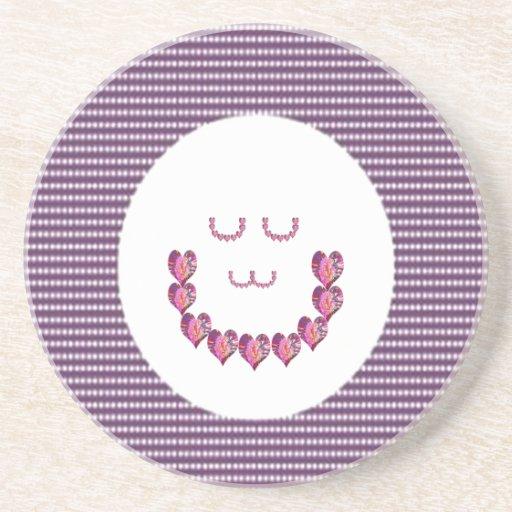 Meditation LADY art made of Pure HEARTS Beverage Coaster