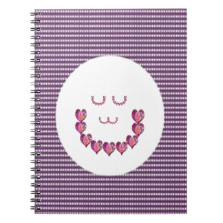 Meditation LADY art made of Pure HEARTS Notebook