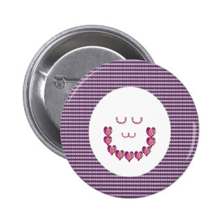 Meditation LADY art made of Pure HEARTS Pinback Button