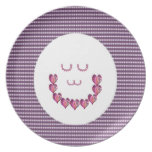 Meditation LADY art made of Pure HEARTS Dinner Plates