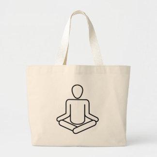 Meditation-logo Large Tote Bag