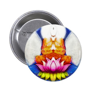 Meditation Lotus Pinback Buttons