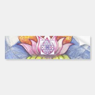 Meditation Lotus Car Bumper Sticker