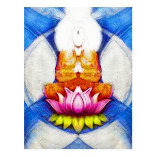 Meditation Lotus Postcard