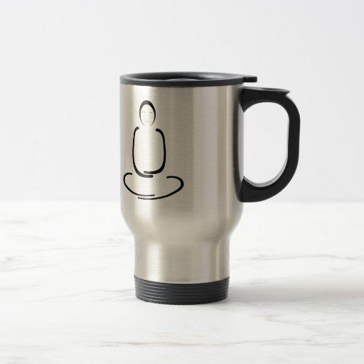 Meditation Man Black Mug