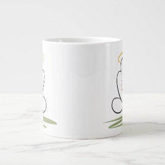 Meditation Man Design 20 oz. Jumbo Mug 20 Oz Large Ceramic Coffee Mug
