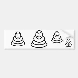 Meditation man sitting bumper stickers