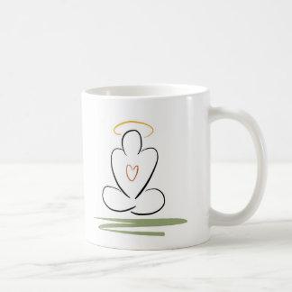 Meditation Man Zen-Inspired Artwork Standard-Size Classic White Coffee Mug