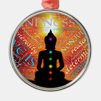 Meditation Metal Ornament