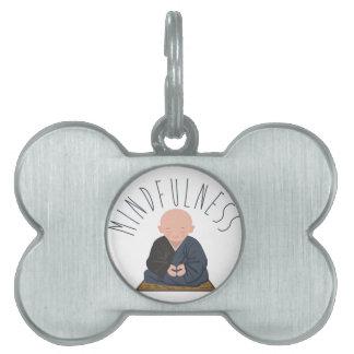 Meditation Mindfulness Pet ID Tag