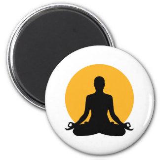 Meditation moon 2 inch round magnet