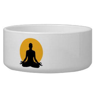 Meditation moon dog food bowl