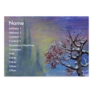 MEDITATION OF A KNIGHT Monogram Large Business Cards (Pack Of 100)