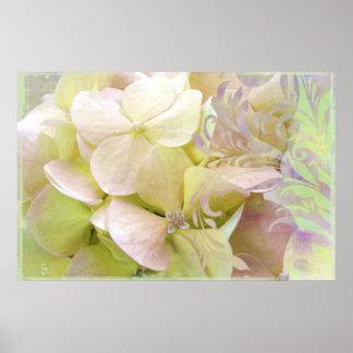 Meditation, Opalescent Hydrangea Posters