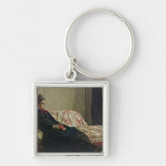 Meditation, or Madame Monet on the Sofa, c.1871 Key Chain