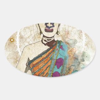 Meditation Oval Sticker