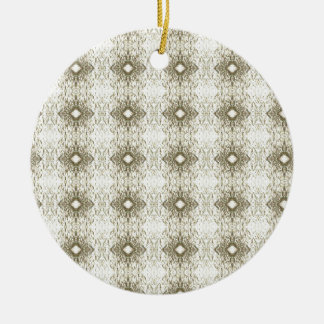 Meditation Pattern Themed Merchandise Double-Sided Ceramic Round Christmas Ornament