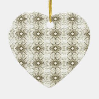 Meditation Pattern Themed Merchandise Double-Sided Heart Ceramic Christmas Ornament