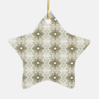 Meditation Pattern Themed Merchandise Double-Sided Star Ceramic Christmas Ornament