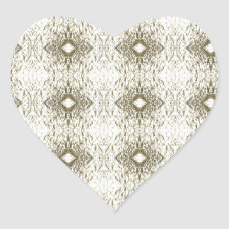 Meditation Pattern Themed Merchandise Heart Sticker