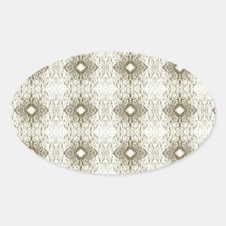 Meditation Pattern Themed Merchandise Oval Sticker