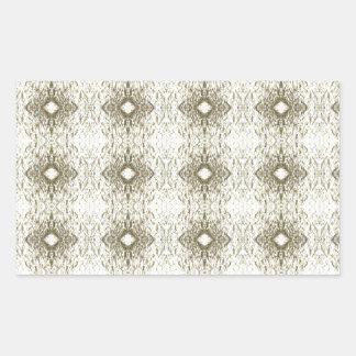 Meditation Pattern Themed Merchandise Rectangular Sticker