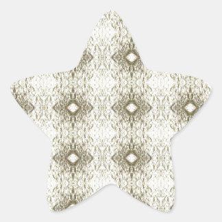 Meditation Pattern Themed Merchandise Star Sticker