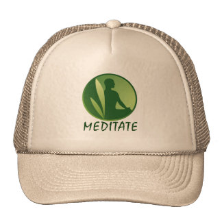 Meditation Pose Green Soft Gradient Trucker Hat