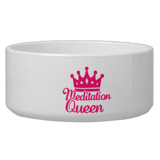 Meditation queen pet food bowl