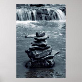 Meditation Rocks Poster