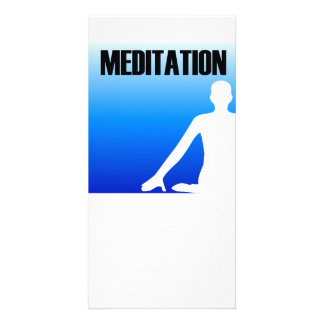 Meditation silhouette of a person card