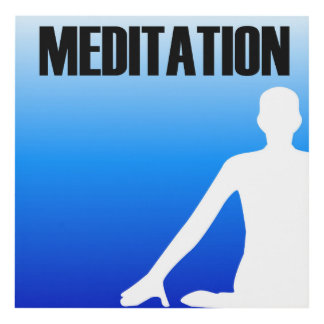 Meditation silhouette of a person panel wall art