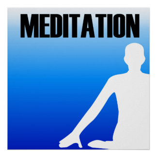 Meditation silhouette of a person poster
