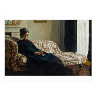 Meditation, Sitting on a Sofa (1870-1871) Postcard
