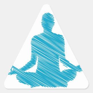 Meditation Triangle Sticker