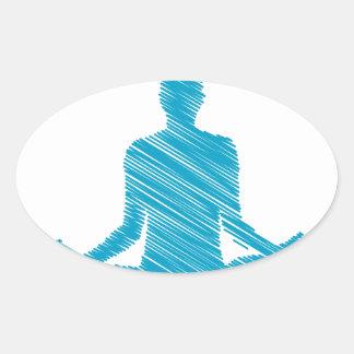 Meditation Oval Stickers