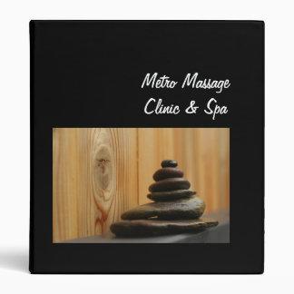 Meditation Stones and Wood 3 Ring Binder