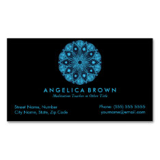 Meditation Teacher Magnetic Business Card at Zazzle