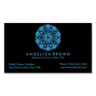 Meditation Teacher Magnetic Business Card