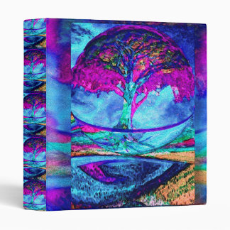 Meditation Tree of Life in Purple Binder