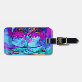 Meditation Tree of Life in Purple Luggage Tag