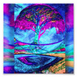 Meditation Tree of Life in Purple Photo Print