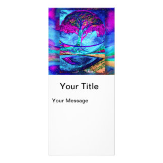 Meditation Tree of Life in Purple Rack Card