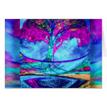 Meditation Tree of Life in Purple Stationery Note Card