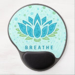 "Meditation Yoga Lotus Flower Zen | Text Template Gel Mouse Pad<br><div class=""desc"">This serene design has a blue lotus flower on a lightly textured background,  with blue and green bubbles floating.   Easily change the text fields using the simple template.   This relaxing design is the perfect way to celebrate your love of meditation and yoga.</div>"