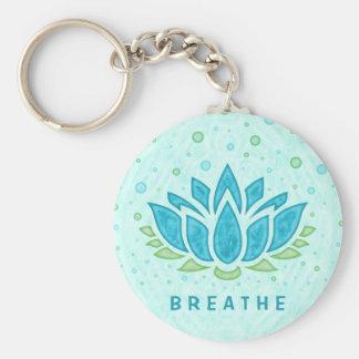 Meditation Yoga Lotus Flower Zen | Text Template Keychain