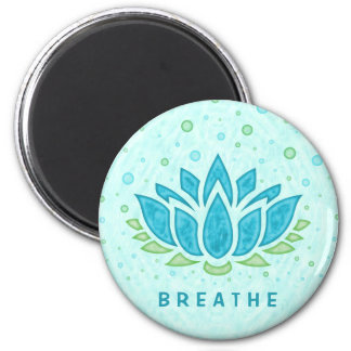 Meditation Yoga Lotus Flower Zen | Text Template Magnet