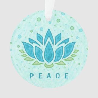 Meditation Yoga Lotus Flower Zen | Text Template Ornament