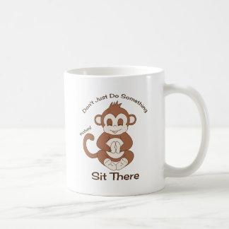 Meditation Yoga Monkey Coffee Mug