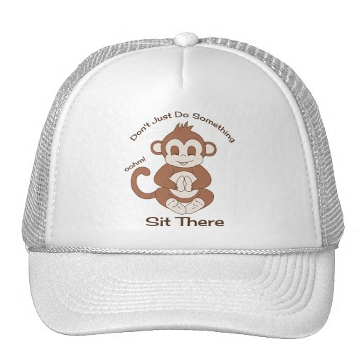 Meditation Yoga Monkey Trucker Hat